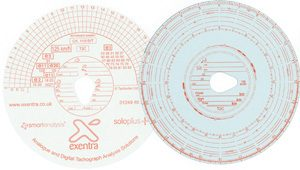 Tachograph-charts paper chart front and back